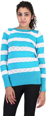 Sheezworld Casual Full Sleeve Striped Women's Blue, White Top