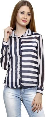 Rigo Casual Full Sleeve Striped Women's Multicolor Top