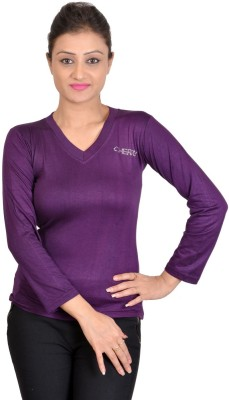SWEEKASH Casual Full Sleeve Solid Women's Purple Top