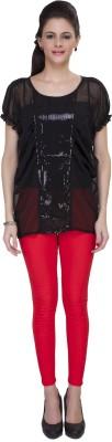 IshinDesignerStudio Casual Cape Sleeve Solid Women's Black Top