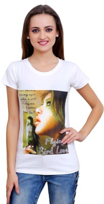 Poorvi collections Casual Short Sleeve Printed Women's White Top