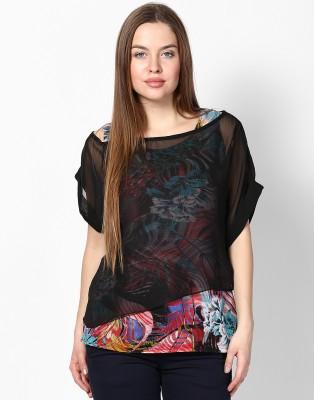 Athena Casual Short Sleeve Printed Women's Multicolor Top at flipkart