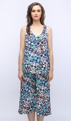SOULWEAR Casual, Party, Formal Sleeveless Printed Women's Multicolor Top