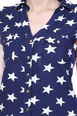 Urban Religion Casual, Festive, Party, Wedding Sleeveless Self Design Women's Blue Top
