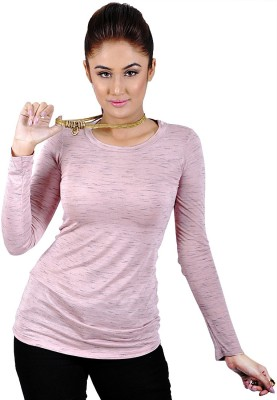 My Hollywood Shop Casual Full Sleeve Solid Women's Pink Top