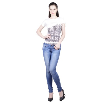 Western World Casual Cap sleeve Printed Women's White, Black Top