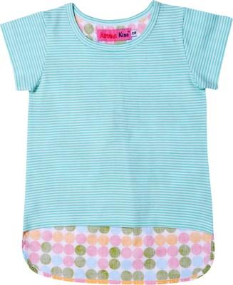 Always Kids Casual Short Sleeve Polka Print Girl's Blue, Orange, Green, Pink Top