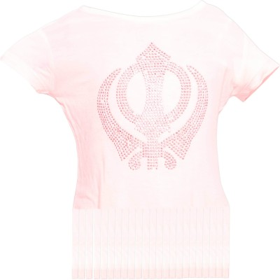 Parv Collections Casual Short Sleeve Solid Girl's White Top