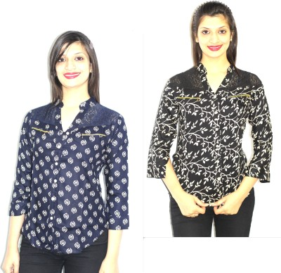99DailyDeals Casual Full Sleeve Printed Women's Multicolor Top