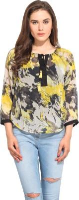 Instacrush Casual 3/4 Sleeve Printed Women,s Multicolor Top