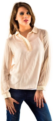 Oshea Casual Full Sleeve Solid Women's White Top