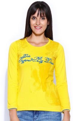 Duke Stardust Casual Full Sleeve Printed Women's Yellow Top