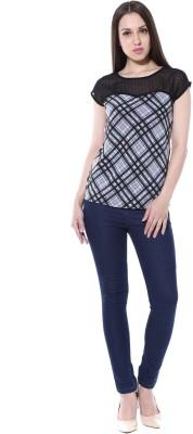 pinaki perryhills Casual Cap sleeve Printed Women's Multicolor Top