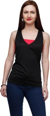 Eavan Casual Sleeveless Solid Women's Black Top