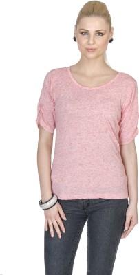 Aussehen Casual Short Sleeve Solid Women's Pink Top