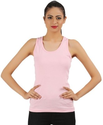 99DailyDeals Casual Sleeveless Solid Girl's Pink Top