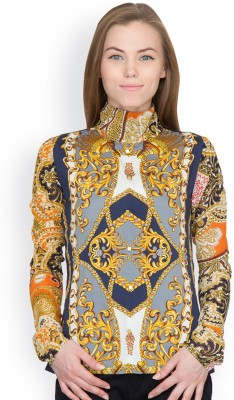 Orous Casual Full Sleeve Printed Women's Multicolor Top
