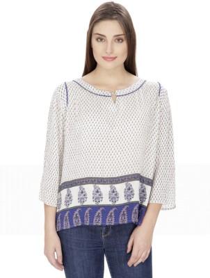 Ihastrenz Casual 3/4 Sleeve Printed Women's Multicolor Top