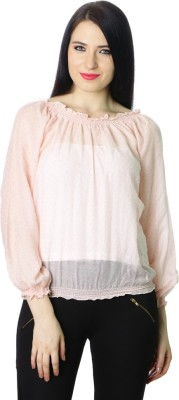 StyleToss Casual Full Sleeve Solid Women's Orange Top