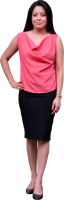 Change360?? Formal, Casual, Party Sleeveless Solid Women's Pink Top