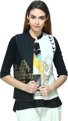 W Casual Sleeveless Printed Women's Grey Top