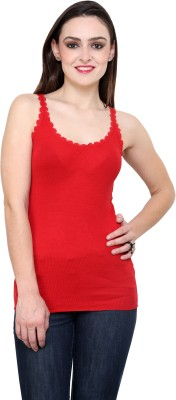 StyleToss Casual Sleeveless Solid Women's Red Top