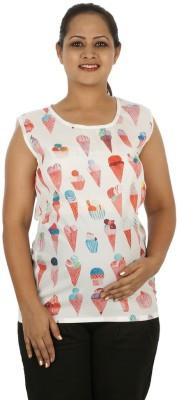 Mamma Mia Casual Sleeveless Printed Women,s Multicolor Top