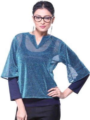 Vea Kupia Casual Full Sleeve Solid Women's Multicolor Top at flipkart