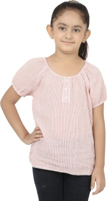 Eves Pret A Porter Casual Short Sleeve Striped Girl's White, Red Top