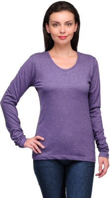 Zachi Casual Full Sleeve Solid Women's Purple Top