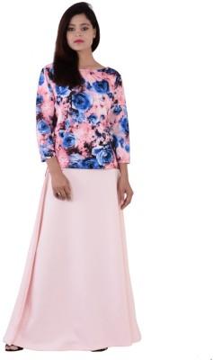 Fashnopolism Casual 3/4 Sleeve Self Design Women's Pink Top