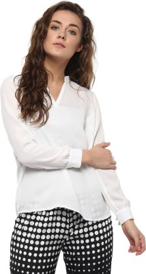 Avirate Casual Full Sleeve Solid Women's White Top