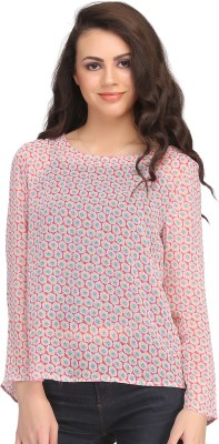 Clovia Casual Full Sleeve Floral Print Women's Pink Top