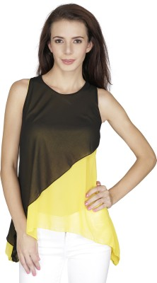 Svt Ada Collections Party Sleeveless Solid Women's Yellow Top