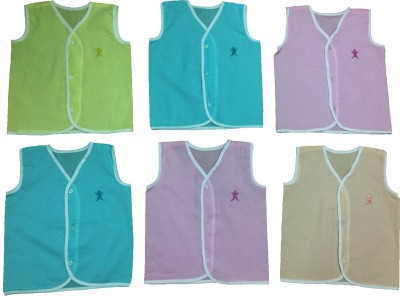 Baby Master Casual Sleeveless Solid Baby Girl's Light Green, Blue, Pink, Brown Top