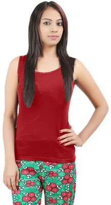 99DailyDeals Casual Sleeveless Solid Girl's Maroon Top