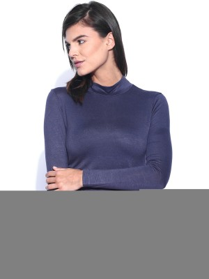Dressberry Casual Full Sleeve Solid Women's Grey Top