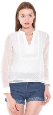 Entease Casual Full Sleeve Solid Women's White Top