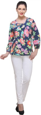 Cutie Pie Casual Full Sleeve Floral Print Women's Multicolor Top