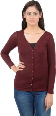Merch21 Casual Full Sleeve Solid Women's Maroon Top