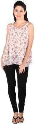 Tenn Casual Sleeveless Floral Print Women's Multicolor Top