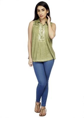 True Fashion Casual Sleeveless Solid Women's Multicolor Top