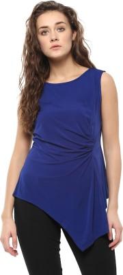 Avirate Casual Sleeveless Solid Women's Dark Blue Top
