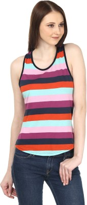 Ruse Casual Sleeveless Striped Women's Multicolor Top