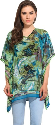 Instacrush Casual Short Sleeve Printed Women,s Multicolor Top