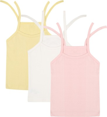 ECOELATE Casual Sleeveless Solid Baby Girl's Pink Top