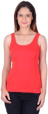 99DailyDeals Casual Sleeveless Solid Girl's Red Top