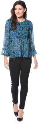 XNIVA Casual Full Sleeve Printed Women's Multicolor Top