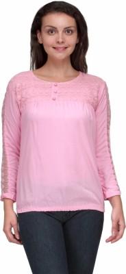 Yashasvi Casual Full Sleeve Self Design Women's Pink Top