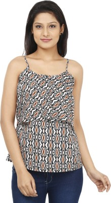 Today Fashion Casual Sleeveless Printed Women's White, Black Top